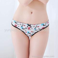 Yun Meng Ni Floral Pattern T-back Ladies Thongs Sexy G-string Japan