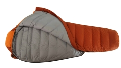 Down filled sleeping bag for cold weather