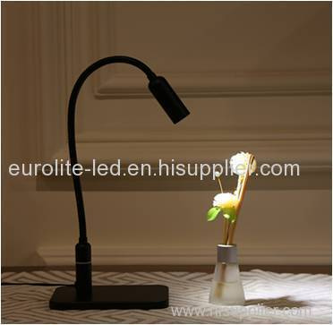 lámpara de mesa led negra regulable euroliteled con dimmer de 3 niveles
