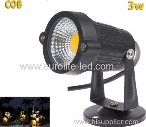 eurolteLed COB 3W waterproof lawn light landscape Aluminum outdoor fixture