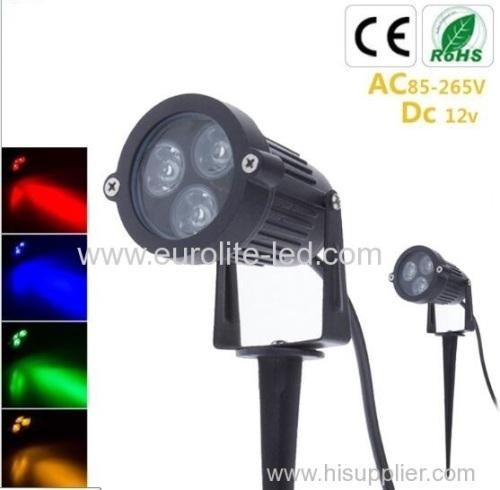 euroliteLed 3W COB spotlight green blue lamp landscape outdoor waterproof aluminum