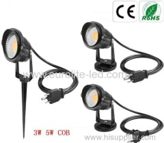 euroliteLed 3W 5W pathway light CE ROHS ETL FCC Power Factor 0.9up with America European cable plug park garden
