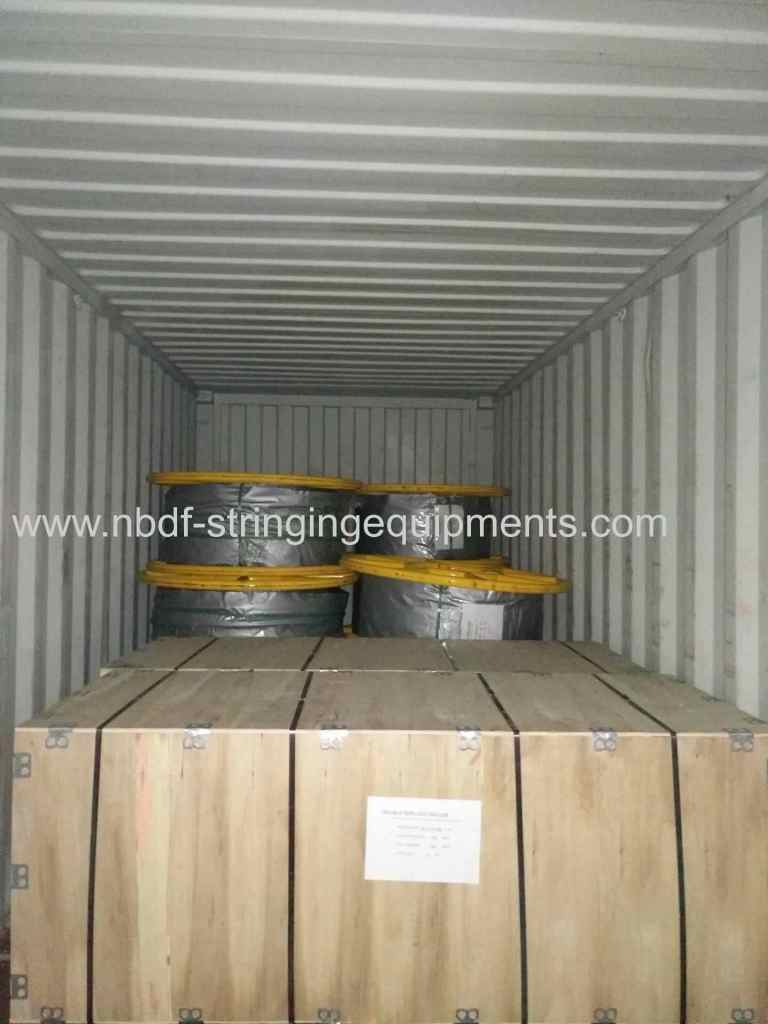 OPGW stringing equipments are exported to South Eash Asia country