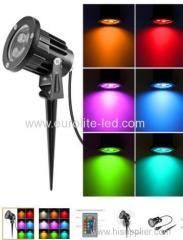 euroliteLED 6W8W12W COB UL ip65 RGBW Remote Control Garden Lawn lamp Landscape Pathway light