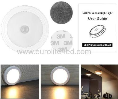 euroliteled night pir sensor light aplique plafón