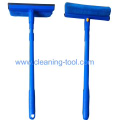 Car Window Squeegee Home Glass Dust Cleaner Brush Wiper 2 in 1