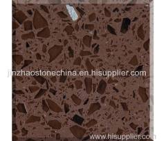 Supply Crystal Brown Quartz Stone Slabs