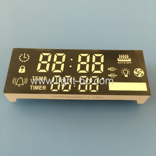 Multicolour custom made 8 Digit 7 Segment led display module for oven timer control panel
