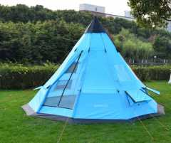 Large space 6-person teepee tent