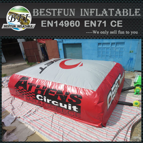 Outdoor big inflatable jump air bag for skiing or stunt