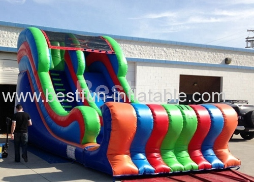 Inflatable slide is good for children to play