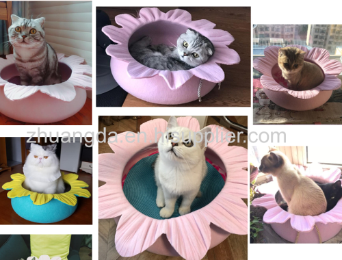 Creative portable back - arm outdoor felt one comfortable soft environmental handmade felt pet nest
