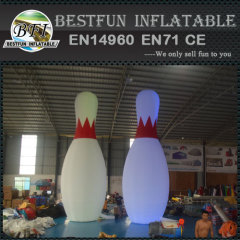 Giant inflatable bowling for advertising