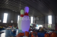 Costumes advertising inflatable LED bowling pins