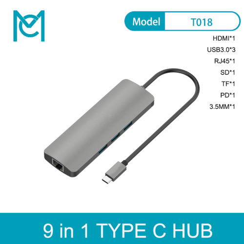 MC Thunderbolt 3 Dock USB Hub Type C to HDMI USB3.0 RJ45 Adapter for MacBook Usb C Adapter
