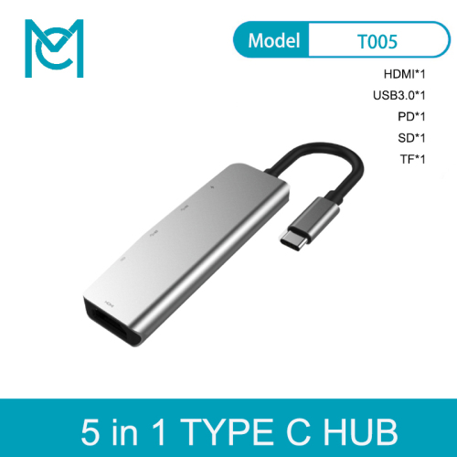 MC 5 in 1 USB C HUB To 3.0 HUB HDMI PD Thunderbolt 3 Adapter for Macbook Pro Mobile