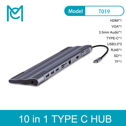 MC 10 In 1 USB C HUB Type C HUB to Multi USB 3.0 HDMI RJ45 VGA 3.5mm Jack PD Charging For MacBook