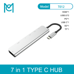 MC 7 in 1 USB Type C Hub Hdmi 4K USB C Hub to Gigabit Ethernet Rj45 Lan Adapter for Macbook Pro