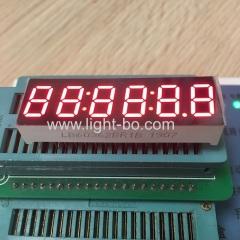 """супер яркий красный 0,36 """"6-значный 7-сегментный светодиодный дисплей часов общий анод для приборной панели"""