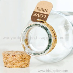 Empty Glass Bottle with Cork
