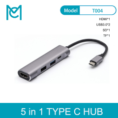 MC Type c hub to USB3.0 to HDMI to SD/TF Support N-intendo Switch Multi-function Docking Station