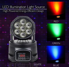 euroliteLED Pro mini Projector 4in1 LED dj stage light disco party 7x1w rgbw 4in1 led moving head