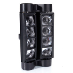 euroliteLED Moving Head Light Mini Spider 8x3W with RGBW 4 Color LED Light Disco Lamp DMX512 Portable Stage Light by UKi