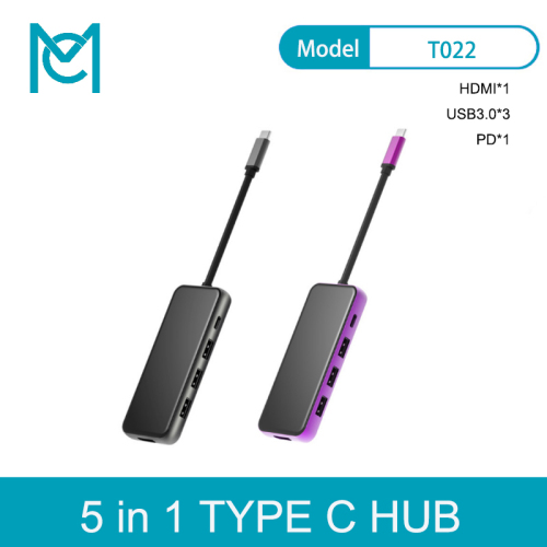 MC USB C HUB to USB 3.0*3/ HDMI/PD Fast Charger Adapter for MacBook Pro Air Multi Type C HUB USB-C HUB