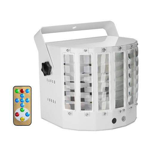 euroliteLED White body 30W Multifunction 9 Colors LED Beam Strobe Lights for Birthday Wedding Club Party DJ Lights Disc