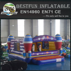 Inflatable Rocket Ship Bounce