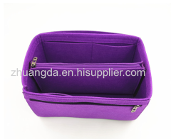 Large capacity felt cosmetic bag felt hollowed out cosmetic bag