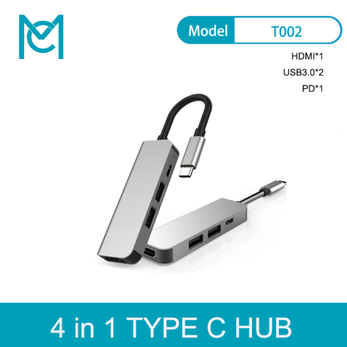 MC 4 In 1 Type C Hub to HDMI 4K with 2 USB 3.0 PD Charging Port USB C Adapter for MacBook Pro Google Chromebook Samsung