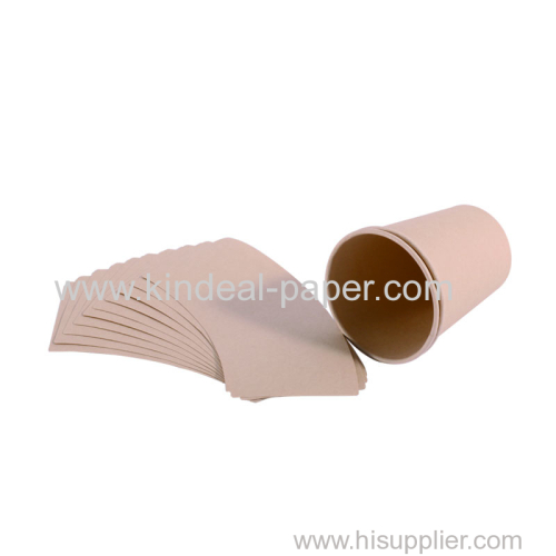 nature color bamboo cup paper board