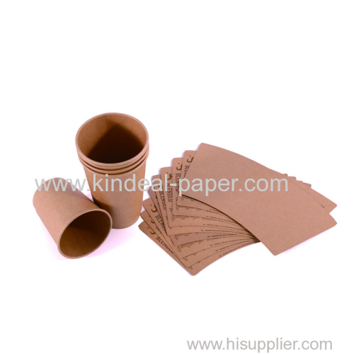 brown color unbleached craft cup paper board