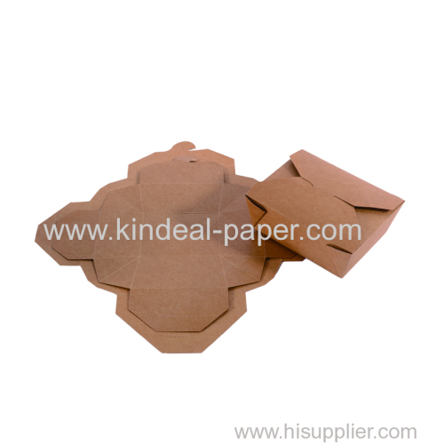 brown Kraft folding box paper for food packaging containers and dinner box