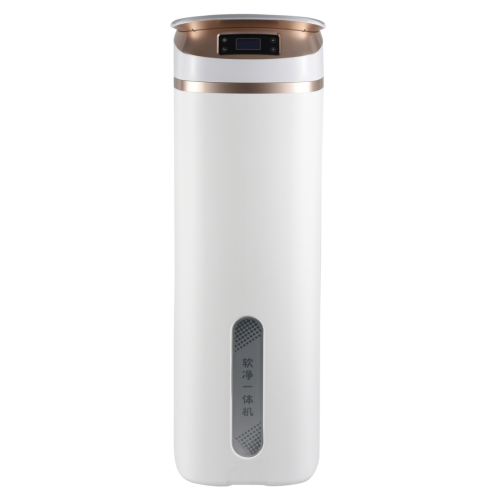 Unique 2-IN-1 household cabinet water softener with reusable high efficiency water purifier