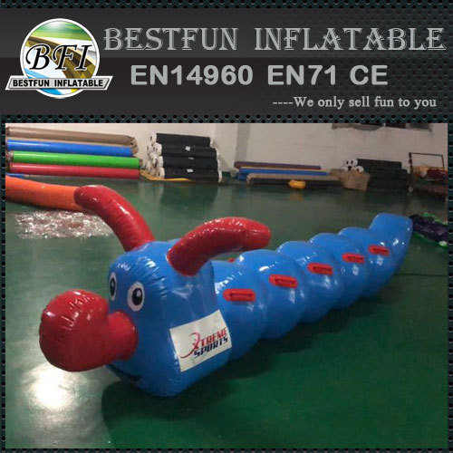 Interactive inflatable jumping worm racing Game