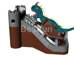 Inflatable Dragon Park Jumping Bouncer with Slide