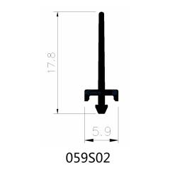 5.9mm Insert Polyamide Insulating Profiles for Aluminum Windows & Doors