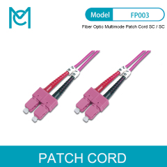 MC Professional Fiber Optic Multimode Patch Cord OM4 SC / SC