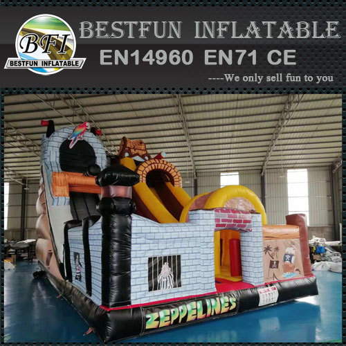Children Obstacle Inflatable Pirate Slide