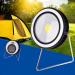 euroliteLED 3W COB Solar LED Lights Portable Outdoor Round Multi-Function Camping Lamp USB Rechargeable