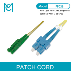 MC Fiber Optic Patch Cord E2000 (8° APC) to SC (PC) Singlemode