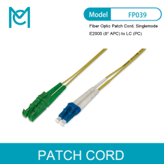 MC Fiber Optic Patch Cord E2000 (8° APC) to LC (PC) Singlemode