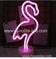 Led Neon Flamingo Night Light Fevistal Holiday Decration Light