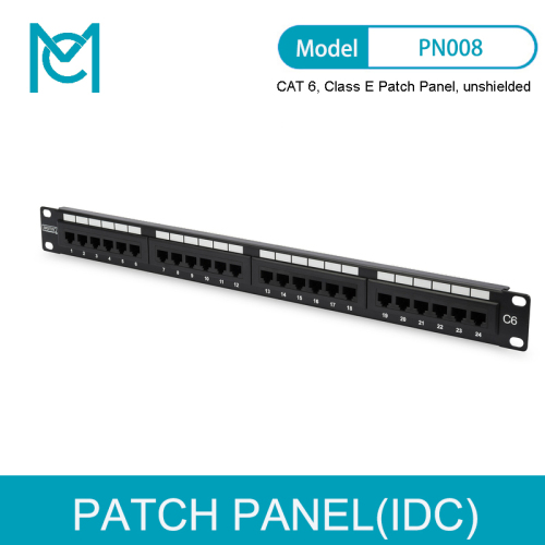 MC CAT 6 Class E Patch Panel Unshielded 24-port RJ45 8P8C
