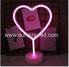 Led Neon Love Heart Night Light Fevistal Holiday Decration Light