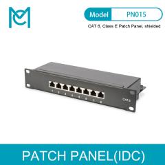 MC CAT 6 Class E Patch Panel Shielded 8-port RJ45 8P8C