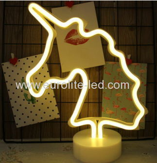 Led Neon Unicorn Night Light Fevistal Holiday Decration Light