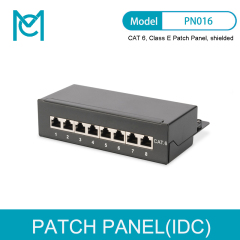 MC Desktop CAT 6 Patch Panel shielded Class E 8-port RJ45 8P8C